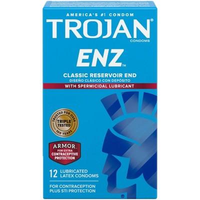 Trojan ENZ Lubricated Premium Latex Condoms - 12ct