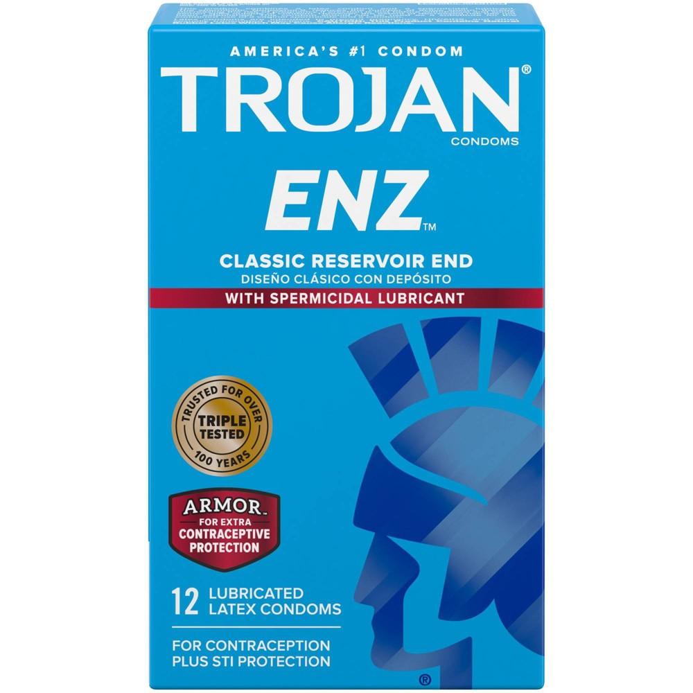 Trojan Enz Lubricated Premium Latex Condoms 12ct