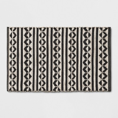 83629a813107 Black Geometric Woven Accent Rugs 2 6