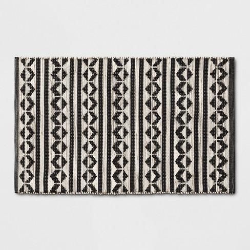 "Black Geometric Woven Accent Rugs 2'6""X4'/30""X48"" - Project 62™ - image 1 of 3"