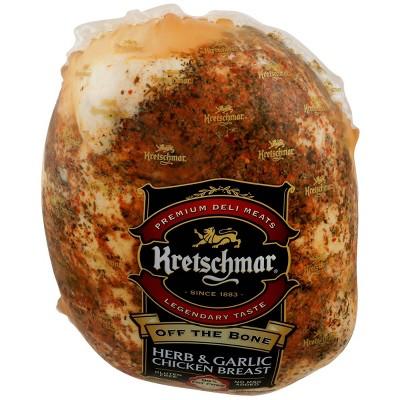 Kretschmar Off the Bone Herb & Garlic Chicken Breast - Deli Fresh Sliced - price per lb