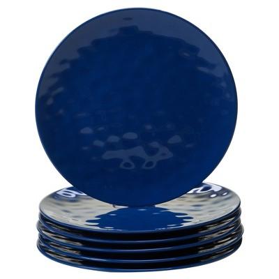 Certified International Solid Color Melamine Dinner Plates 11  Cobalt - Set of 6