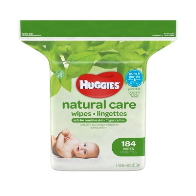 Huggies Natural Care Baby Wipes Unscented - 184ct