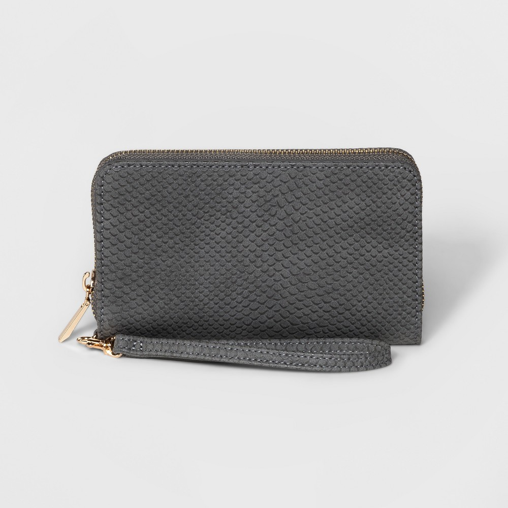Zip Round Wallet - A New Day Gray