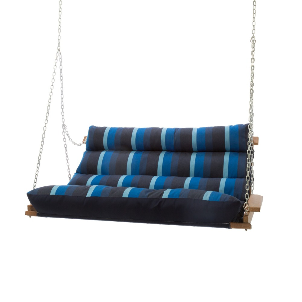 Image of Double Swing - Navy Stripe - Hatteras Hammocks, Blue Stripe