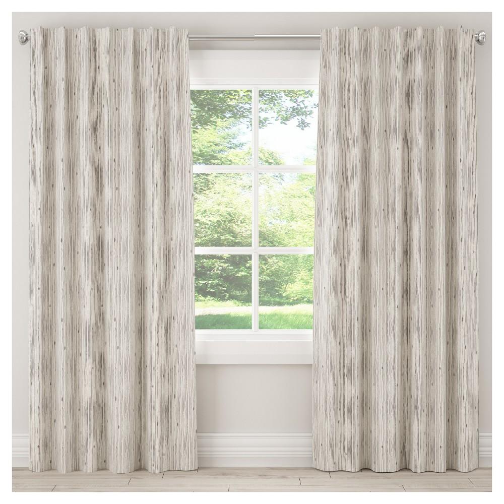 Blackout Shibori Stripe Curtain Panel Gray (50