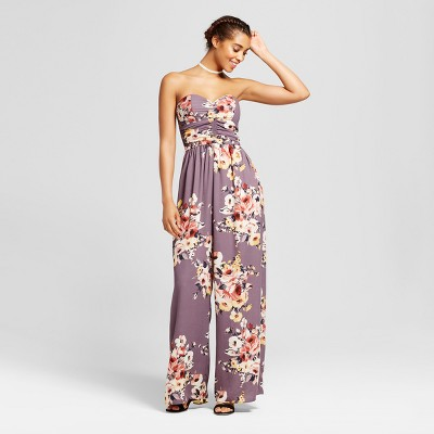 a8fa90837874 Women s Strapless Quilted Jumpsuit - Xhilaration™ (Juniors ) Lavender XS    Target