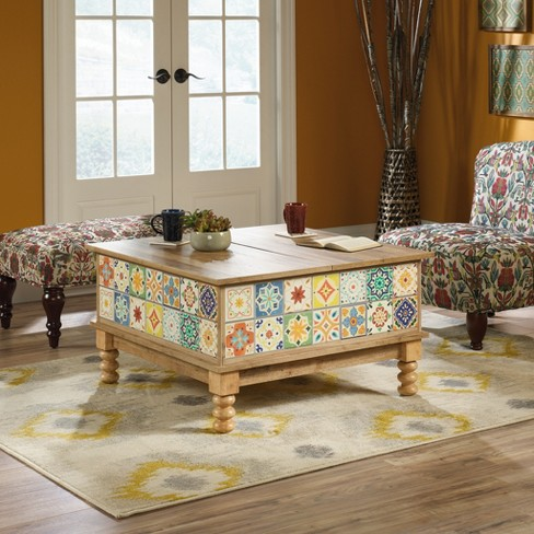 Viabella Lift Top Coffee Table Antigua Chestnut Finish - Sauder - image 1 of 9