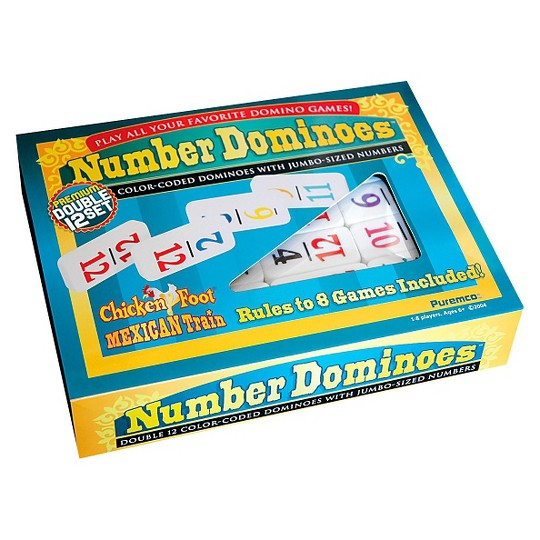 Puremco Number Dominoes Double 12 Game image number null