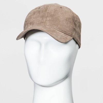Men's Suede Dapper Baseball Hat - Goodfellow & Co™ Khaki