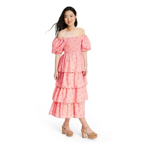 Women's Simone Smocked Dress - LoveShackFancy for Target (Regular & Plus) Pink Melon - image 1 of 4
