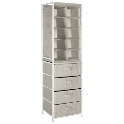 mDesign Vertical Dresser Storage Tower with 4 Drawers