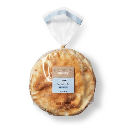 Low Fat Original Pita Bread - 12oz/4ct - Favorite Day™