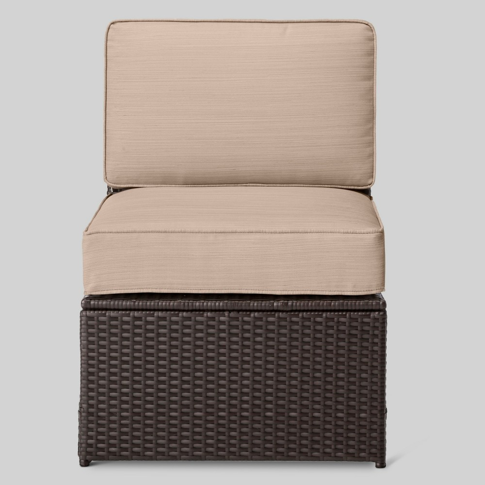 Sedona All Weather Wicker Patio Sectional Armless Chair - Project 62
