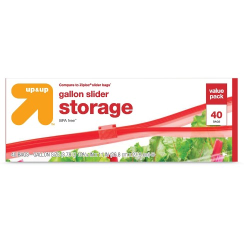 Slider Gallon Storage Bags - 40ct - Up&Up™ - image 1 of 1