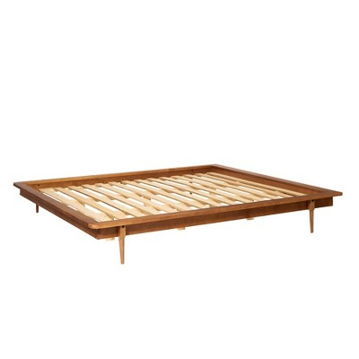 King Aurora Boho Solid Wood Platform Bed - Saracina Home