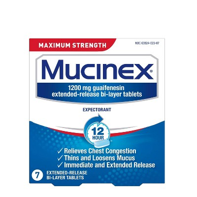 Mucinex Max Strength Extended Release Bi-Layer Expectorant Tablets - 7ct