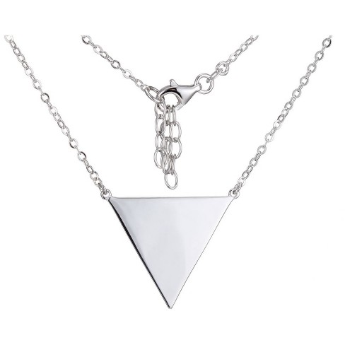 """Sterling Silver Geometric Triangle Necklace, 16+2"""" - image 1 of 1"""