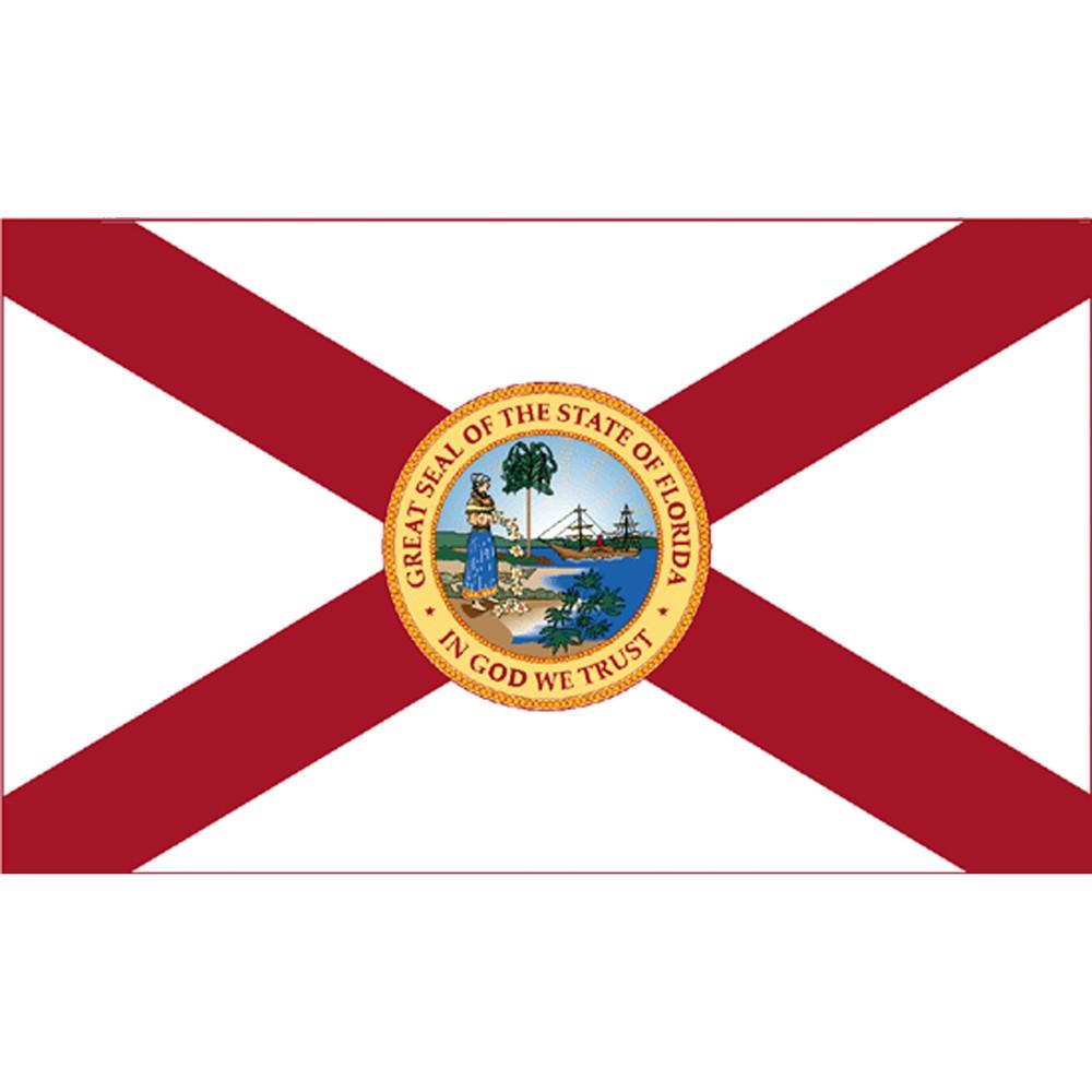 Image of Halloween Florida State Flag - 4' x 6'