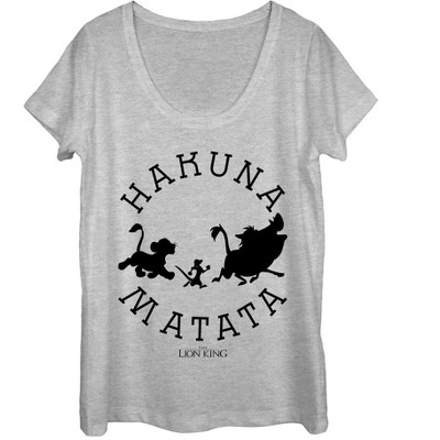 Women's Lion King Hakuna Matata Means No Worries Scoop Neck