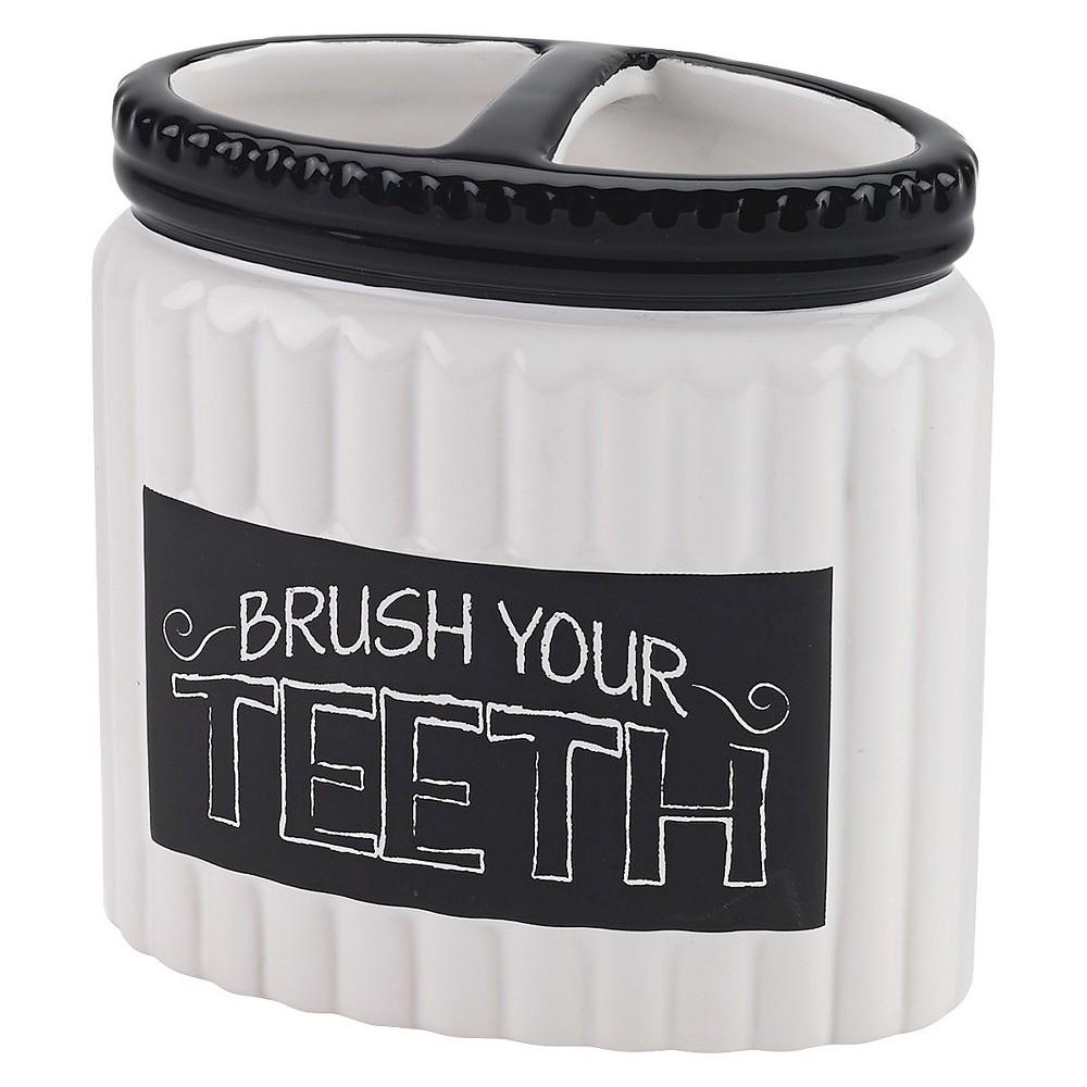 Image of Avanti Chalk It Up Toothbrush Holder, Multicolored