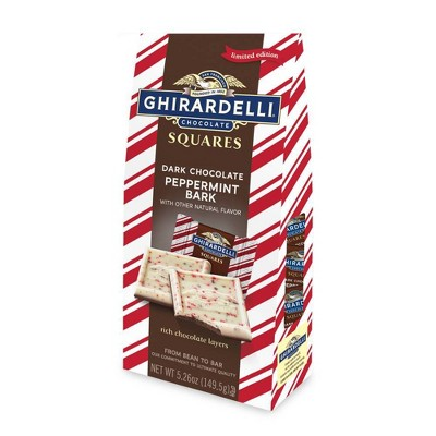 Ghirardelli Holiday Dark Chocolate Peppermint Bark Chocolate Squares - 5.26oz