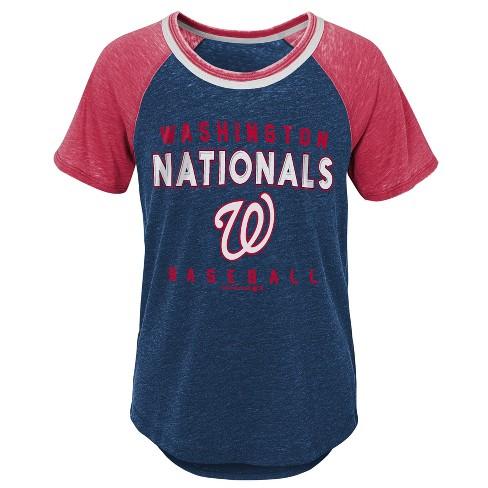 MLB Washington Nationals Girls' Burnout Alt T-Shirt - image 1 of 1