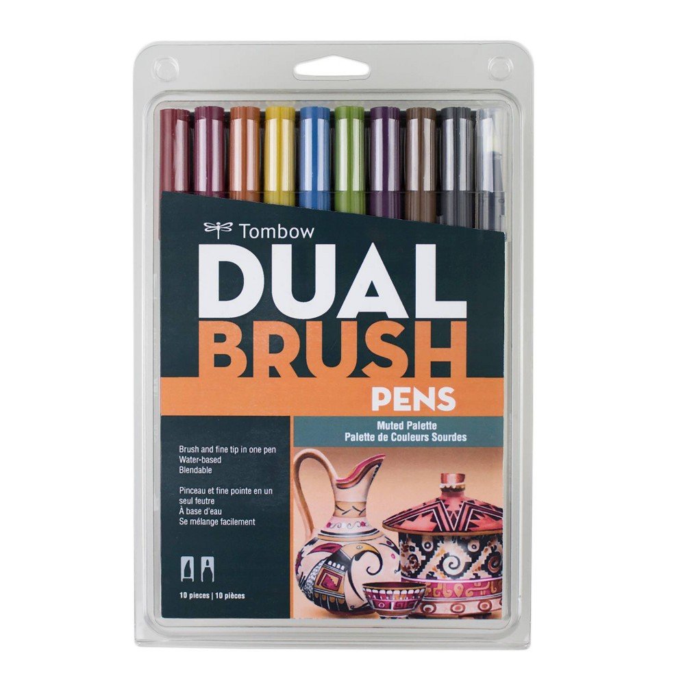 Image of 10ct Pen Set Dual Brush Muted - Tombow