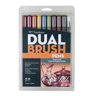 Tombow 10ct Dual Brush Pen Art Markers - Muted