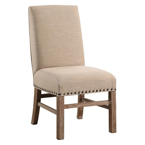 Nora Vintage Nailhead-Trim Dining Chair - Wheat - Abbyson - image 1 of 4