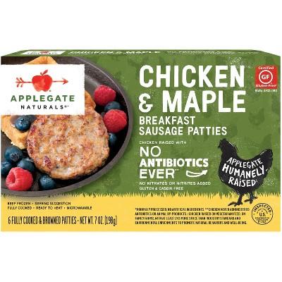 Applegate Naturals Chicken & Maple Frozen Sausage Patties - 6ct/7oz