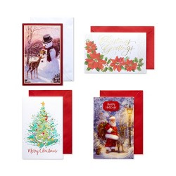 20ct American Greetings Traditional Assorted Christmas Boxed Greeting Cards with White Envelopes