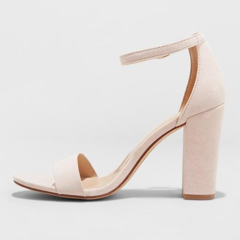 871521aeedf Women's Ema High Block Heel Pumps - A New Day™ Blush 9 : Target