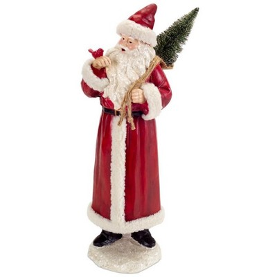 """Melrose 18.5"""" Red and White Santa Claus Christmas Tabletop Figurine"""