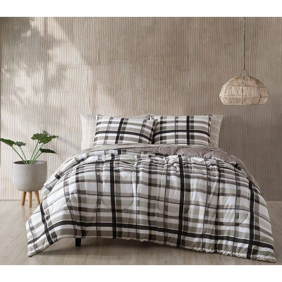 Maris Plaid 7pc Comforter Set - Geneva Home Fashion