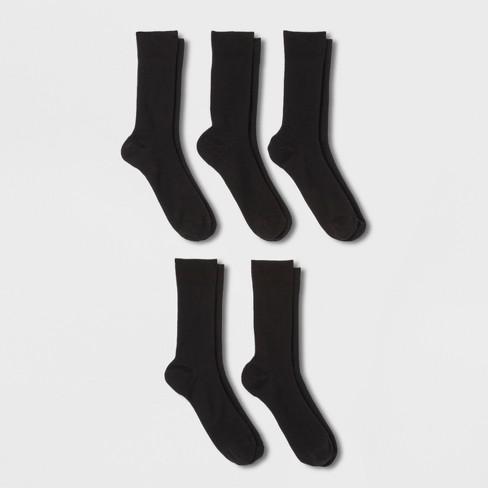 Men's Rib Dress Socks 5pk - Goodfellow & Co™ Black 10-13 - image 1 of 2