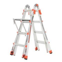 Little Giant Velocity 17 Foot Aluminum Adjustable Folding Ladder & Work Platform