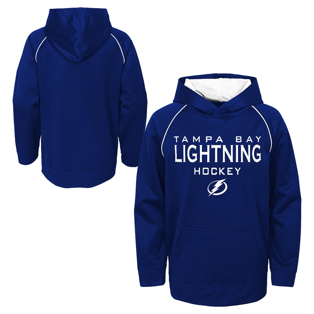 Tampa Bay Lightning Boys' Shorthand Poly Embossed Hoodie S, Multicolored
