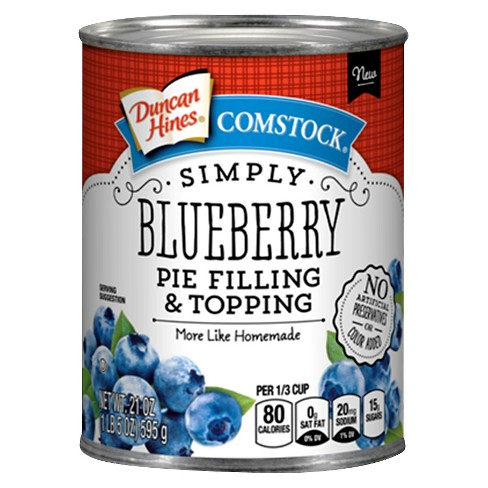 Duncan Hines Simply Blueberry Pie Filling & Topping 21oz - image 1 of 1
