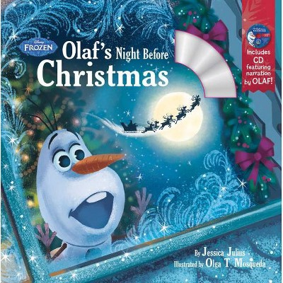 Olaf's Night Before Christmas PAP/COM - by Disney (Paperback)