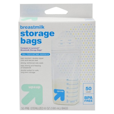 Milk Storage Bags, 6oz (50ct)- Up&Up™