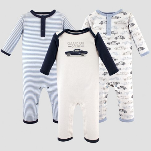 1ab1a2942 Hudson Baby Boys  3pk Union Suits