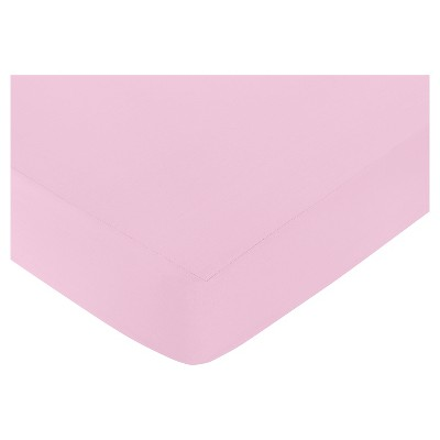 Sweet Jojo Designs Paris Fitted Crib Sheet - Light Pink