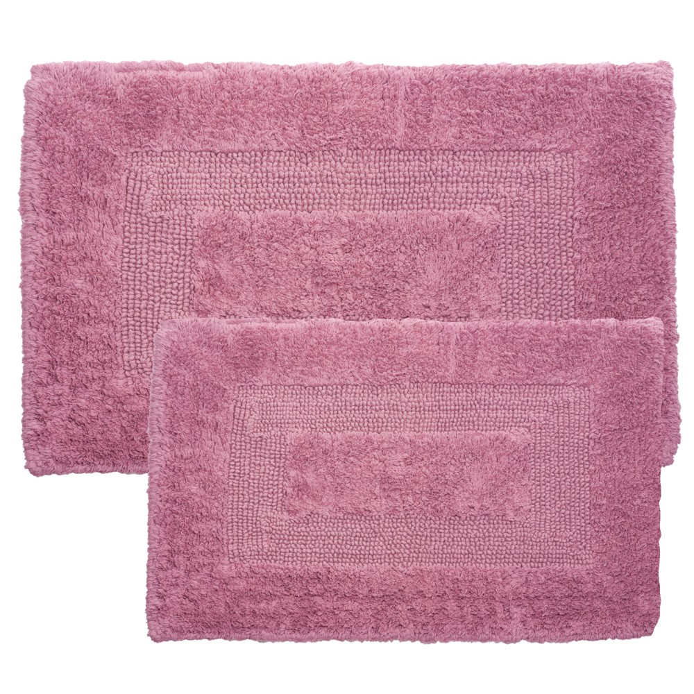Solid Bath Mat 2pc Pink - Yorkshire Home