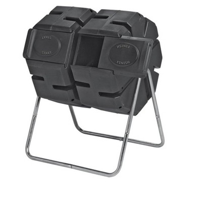 Gardener's Supply Company Dual Batch Compost Tumbler 100% Recycled Plastic Outdoor Compost Bin - FOREST CITY MODELS
