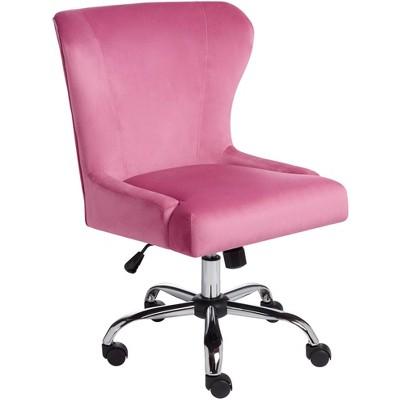 Studio 55D Erin Pink Fabric Adjustable Office Chair