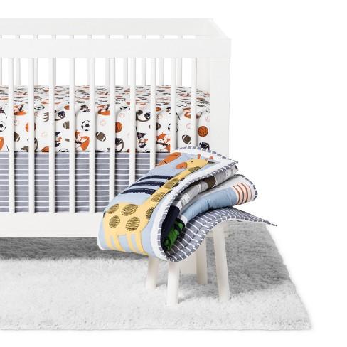 Bedtime Originals 3pc Baby League Crib Bedding Set - Blue - image 1 of 4