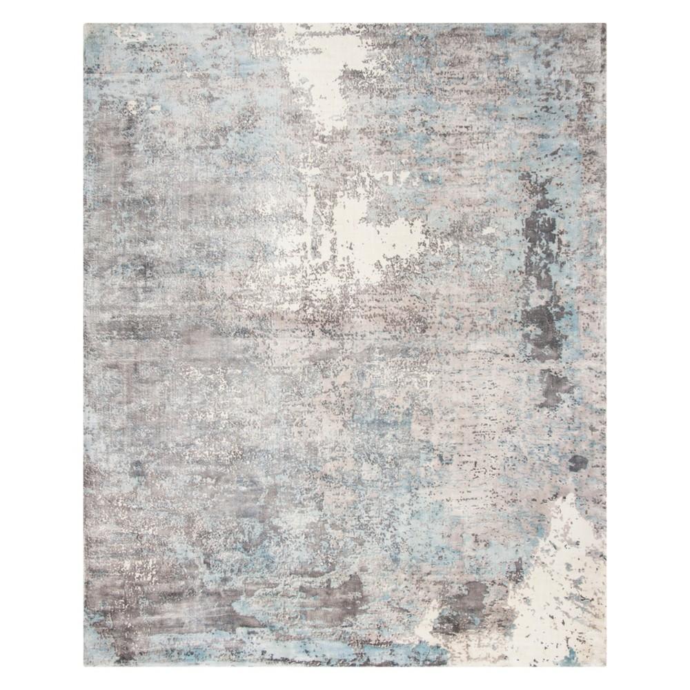 8'X10' Marble Area Rug Ivory/Blue - Safavieh