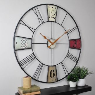 "Vibrant Plaques 36"" Round Wall Clock - FirsTime"