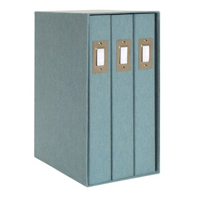 Set of 3 Cydney Fabric Photo Albums In Display Box Teal - Designovation
